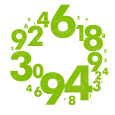 Numbers_002_lime