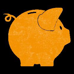Piggy bank_orange