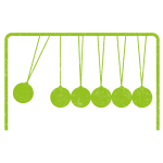 newtons cradle_lime