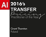 Grant Thornton-Transfer Pricing Practitioner of the Year - 1608A